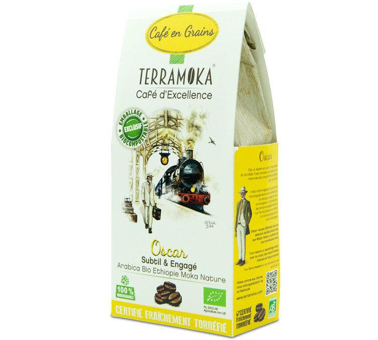 TerraMoka Café en grains Bio Oscar - Ethiopie - 200g - TerraMoka - Sélection Verte (Bio) - Café Bio - Bio