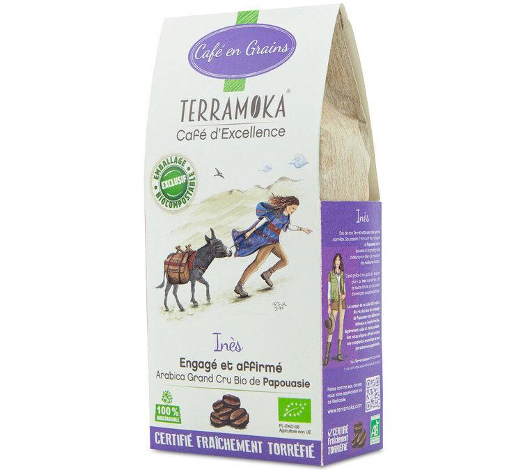 TerraMoka Café en grains Bio Ines - Papouasie - 200g - TerraMoka - Sélection Verte (Bio) - Café Bio - Bio