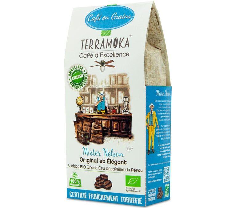 TerraMoka Café en grains décaféiné Bio Mister Nelson - Pérou - 200g - TerraMoka - Sélection Verte (Bio) - Café Décaféiné - Bio