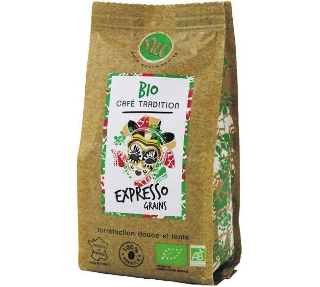 Maison Taillefer Café en grain BIO NU Expresso - 125g - Sélection Verte (Bio) - Café Bio - Bio