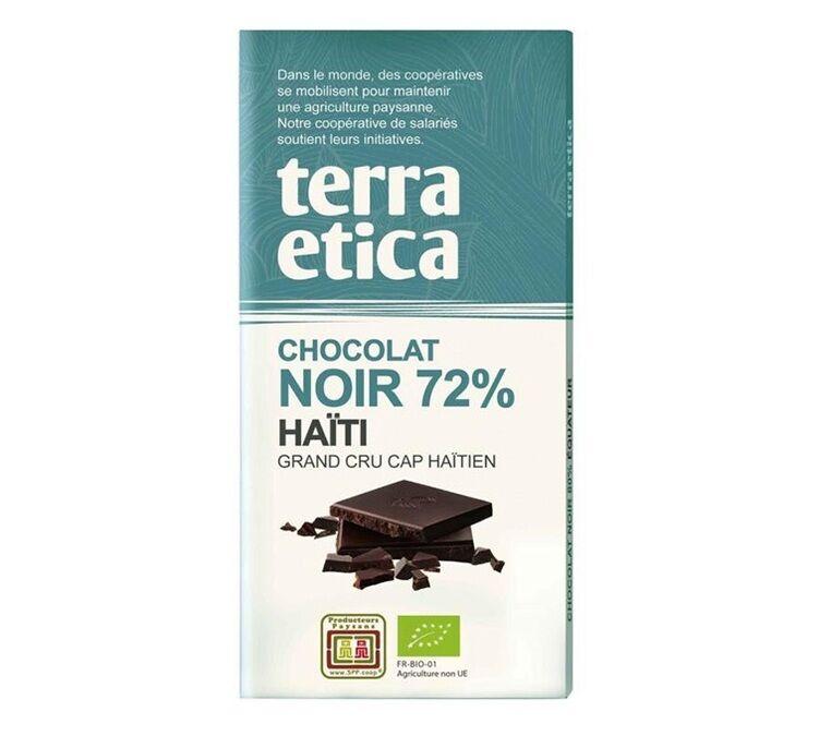 Terra Etica - Tablette chocolat Noir 72% Haïti 100g - Café Michel - Bio