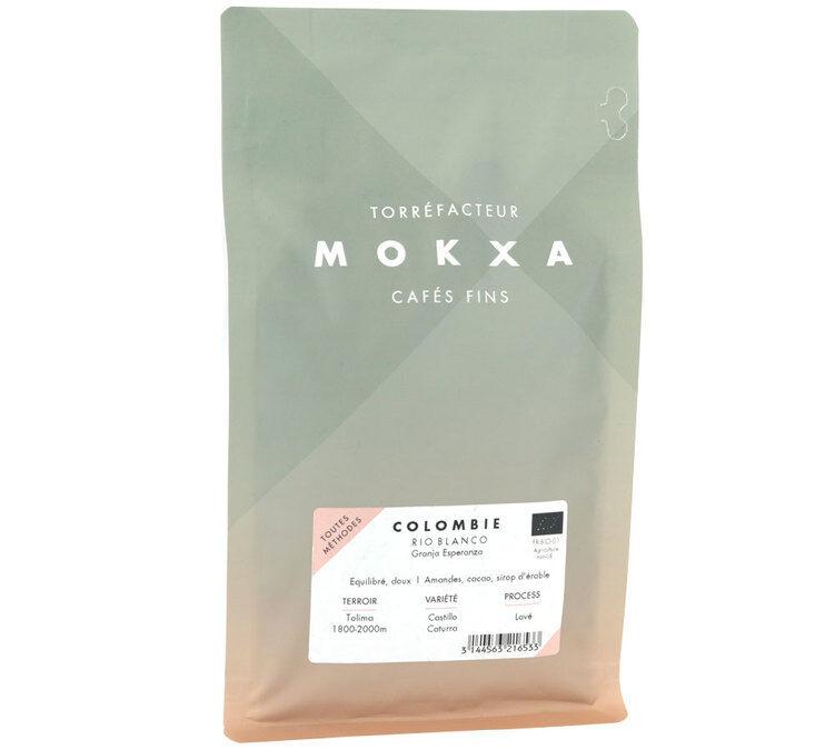 Café Mokxa Café en grains Bio Colombie Rio Blanco - Café Mokxa - 250g - Sélection Verte (Bio) - Café Bio - Bio