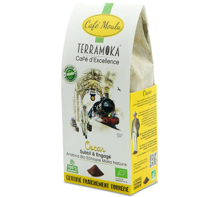 TerraMoka Café moulu Bio Oscar - Ethiopie - 250g - TerraMoka - Sélection Verte (Bio) - Café Bio - Bio