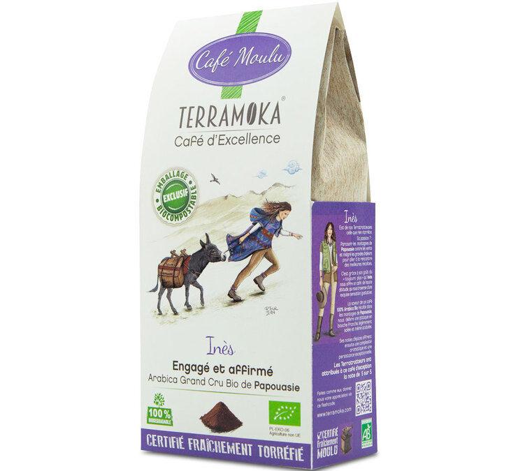 TerraMoka Café moulu Bio Ines - Papouasie - 250g - TerraMoka - Sélection Verte (Bio) - Café Bio - Bio