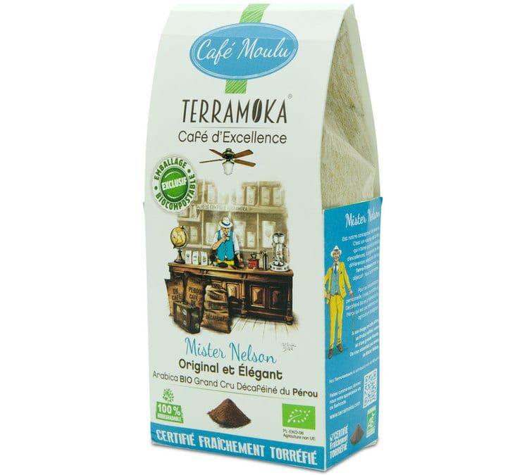 TerraMoka Café moulu Bio Mister Nelson Décafeiné - Perou - 250g - TerraMoka - Sélection Verte (Bio) - Café Décaféiné - Bio