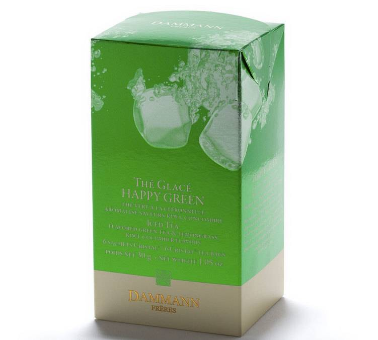 Dammann Frères Thé Glacé Happy Green - 6 Sachets Cristal - Dammann Frères