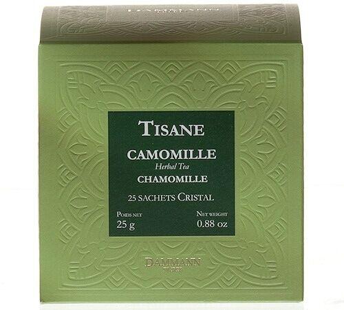 Dammann Frères Tisane Camomille Herboristerie D'orgeval - 25 Sachets Cristals - Dammann Frères
