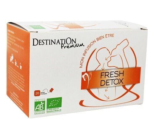 Destination Tisane Fresh Détox Bio - 20 sachets fraicheurs - Destination - Bio