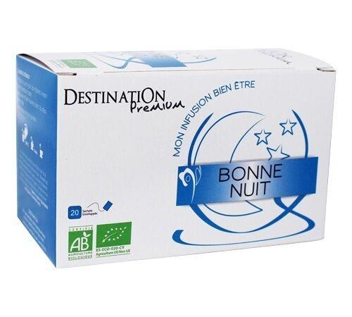 Destination Tisane Bonne nuit Bio - 20 sachets fraicheurs - Destination - Bio