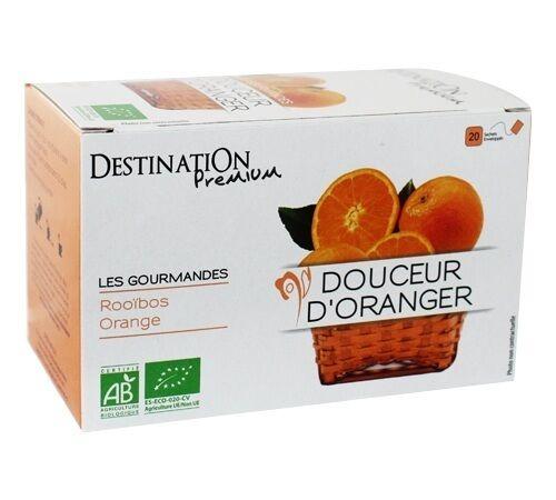 Destination Tisane Rooibos Douceur d'Oranger Bio - 20 sachets fraicheurs - Destination - Bio