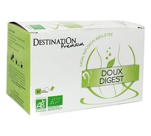 Destination Tisane Doux digest Bio - 20 sachets fraicheurs - Destination - Bio