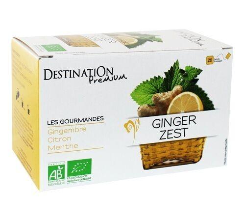 Destination Tisane Ginger zest Bio - 20 sachets fraicheurs - Destination - Bio