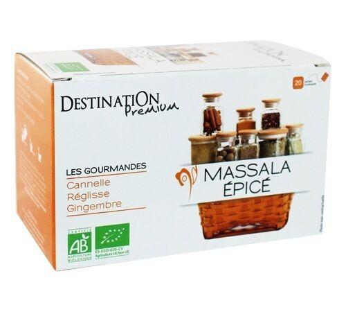 Destination Tisane Massala épicé Bio - 20 sachets fraicheurs - Destination - Bio