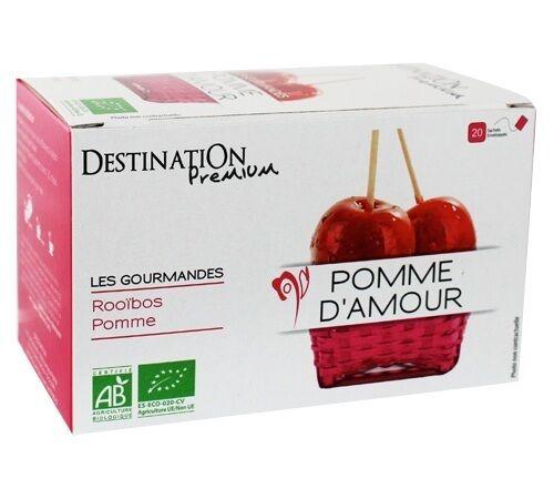 Destination Tisane Pomme d'amour Bio - 20 sachets fraicheurs - Destination - Bio