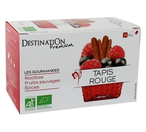 Destination Tisane Tapis Rouge Bio - 20 sachets fraicheurs - Destination - Bio