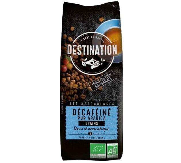 Destination Café en grains Bio Décafeiné n°9 100% Arabica Destination x 250 gr - Sélection Verte (Bio) - Café de Grandes Marques - Bio