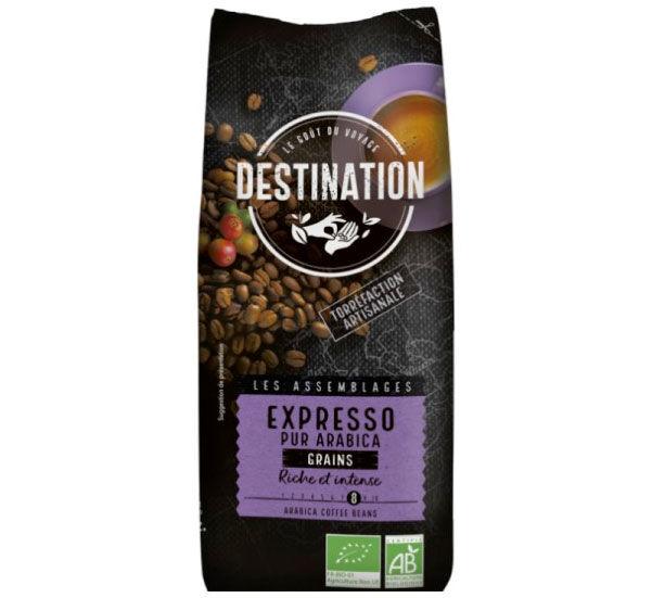 Destination Café en grains bio Destination Expresso pur Arabica - 500g - Sélection Verte (Bio) - Café Bio - Bio