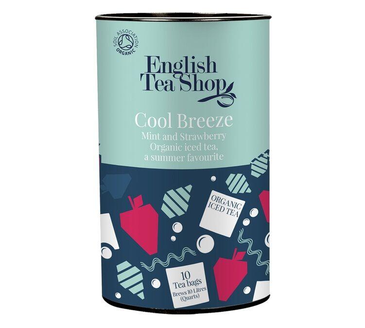 English Tea Shop Infusion Thé glacée Cool Breeze Menthe et Fraise - 10 sachets - English Tea Shop - Bio