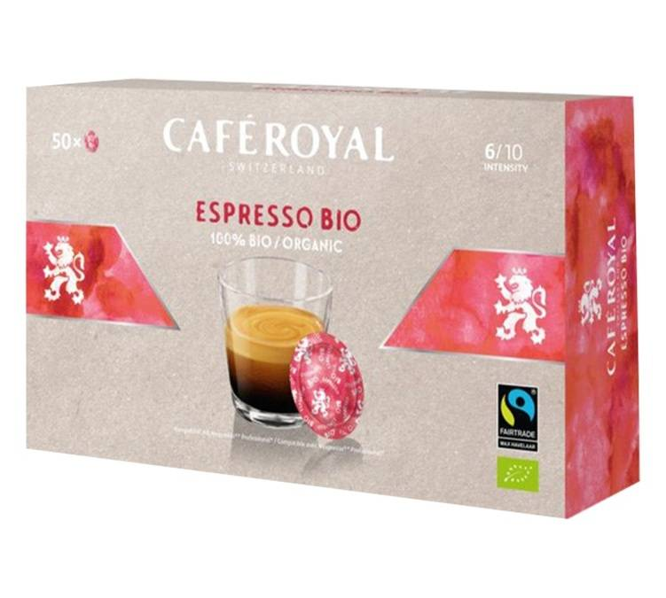 Café Royal Dosettes compatibles Nespresso® pro Espresso Bio x 50 - Café Royal Office Pads - Bio