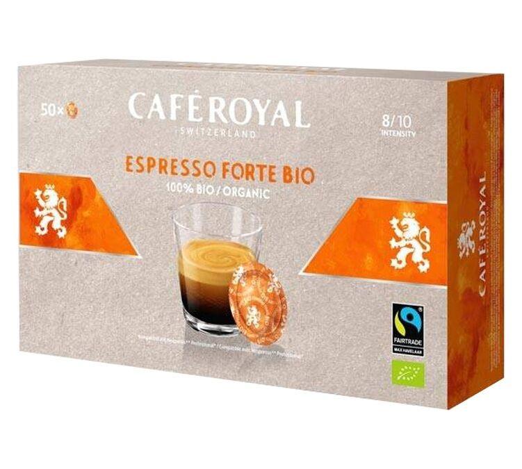 Café Royal Dosettes compatibles Nespresso® pro Espresso Forte Bio x 50 - Café Royal Office Pads - Bio