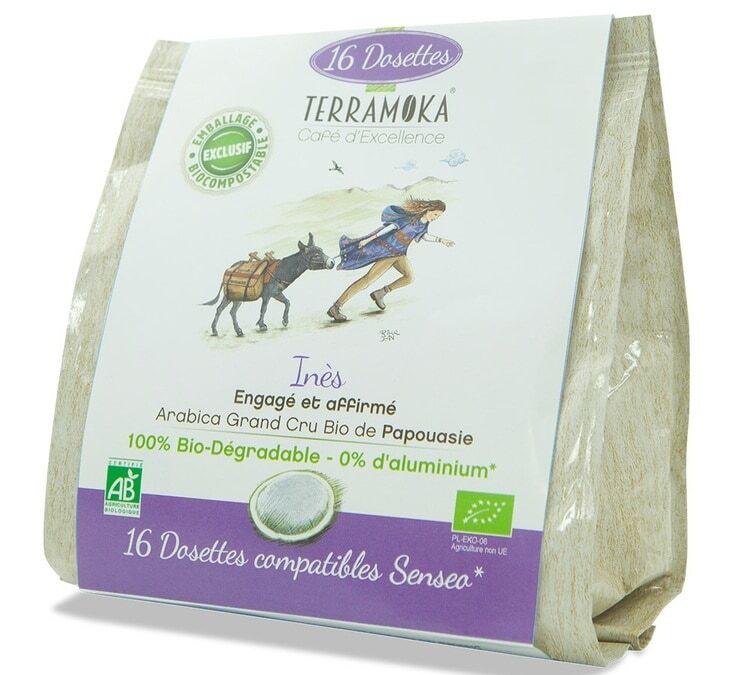 TerraMoka - 16 Dosettes Bio compatibles Senseo Ines - Terramoka - Papouasie Nouvelle-Guinée