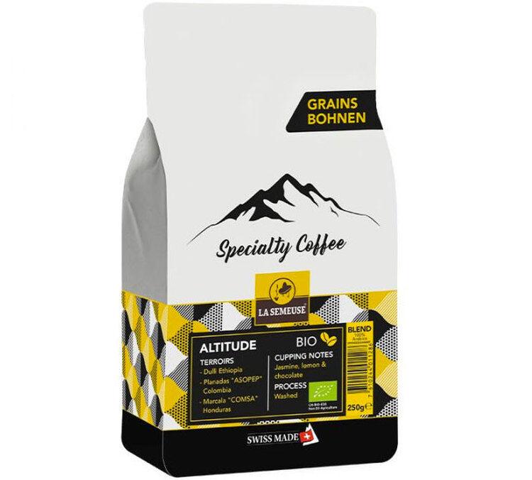La Semeuse Café en grains Bio La Semeuse Specialty Coffee Altitude - 250g - Sélection Bleue (Artisanal) - Café Artisanal - Bio