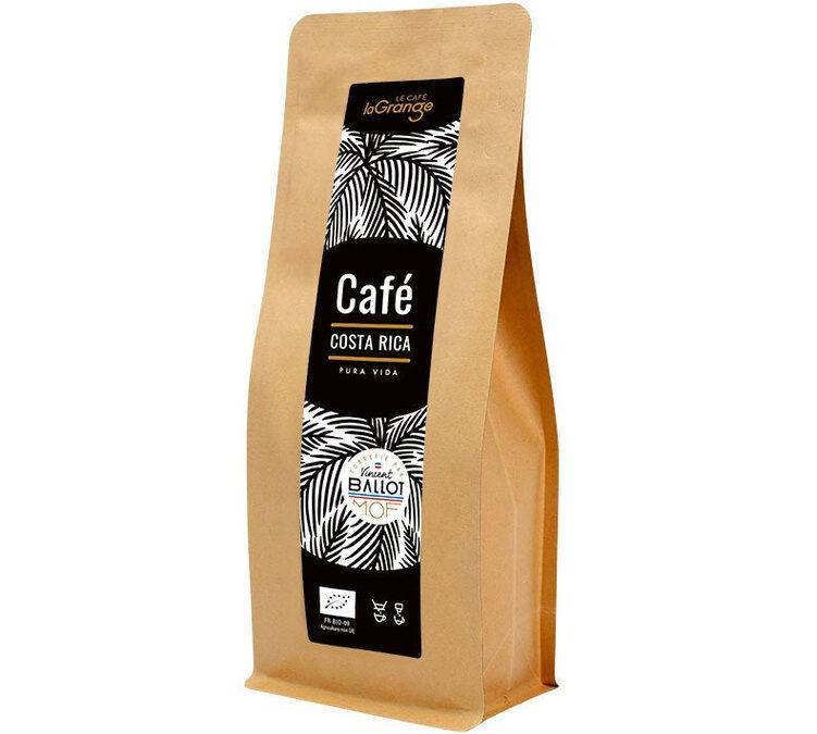 La Grange Torréfacteur - Café moulu Bio - La Grange Costa Rica - Meilleur Ouvrier de France - 200g - Costa Rica