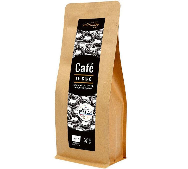 La Grange Torréfacteur - Café moulu Bio - La Grange Le Cinq - Meilleur Ouvrier de France - 200g - Ethiopie