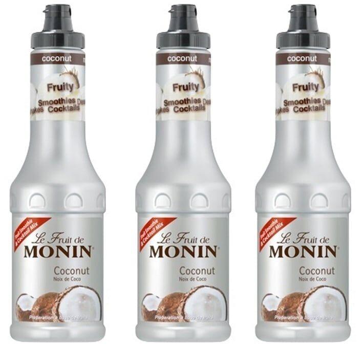 Monin Lot de 3 Purées de Fruit de Monin - Coco - 3 x 50 cl - 50.0000 cl