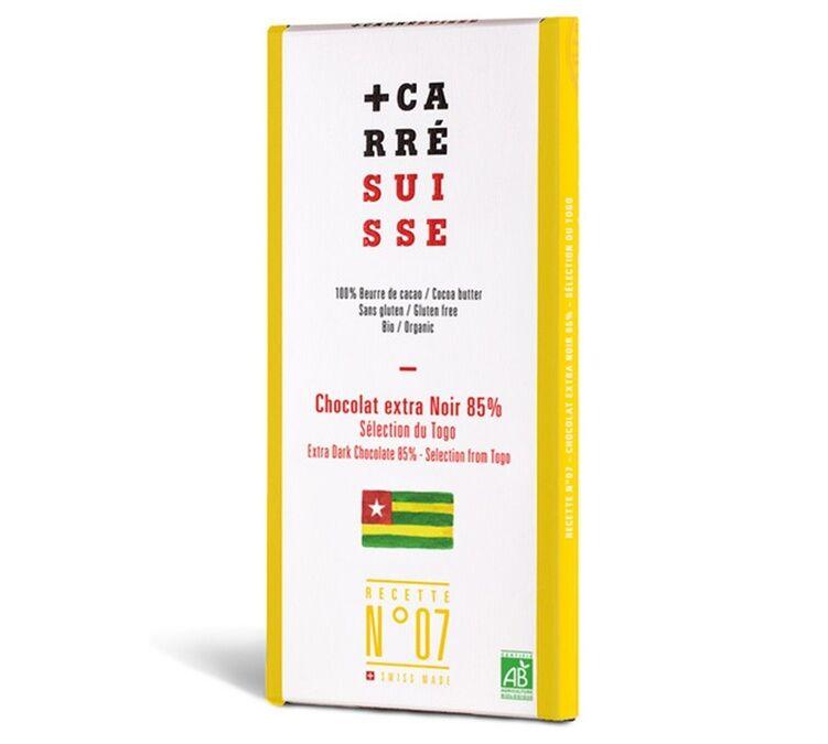 Carré Suisse Tablette Grand Cru Chocolat Noir Togo 85% Bio 100g - Carré Suisse - Bio