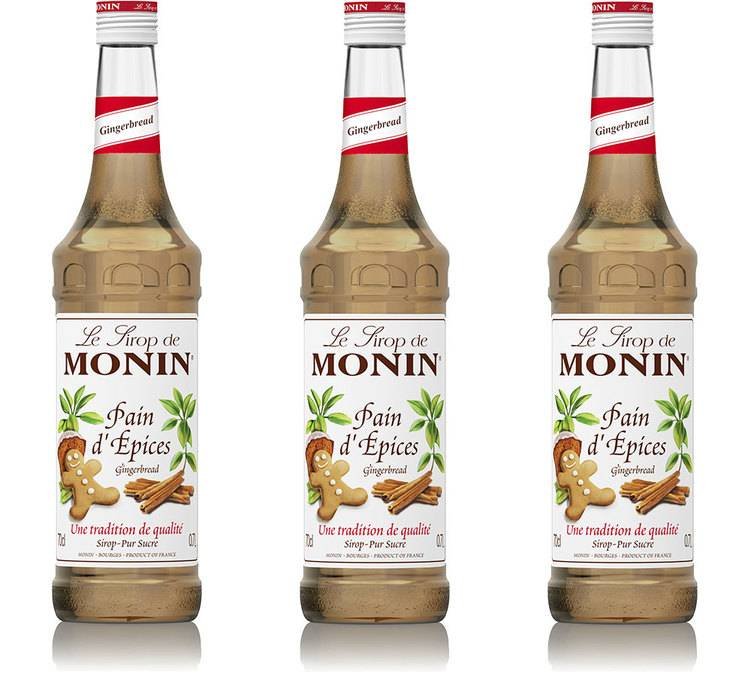 Monin Sirop Monin - Pain d'épices - Lot 3 x 70 cl - Arômes naturels