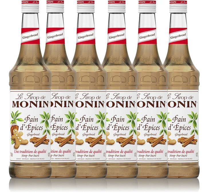 Monin Sirop Monin - Pain d'épices - Lot 6 x 70 cl - Arômes naturels
