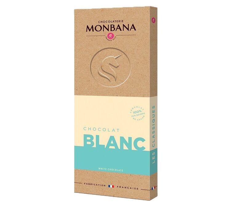 Monbana Tablette Chocolat Blanc 100g - Monbana