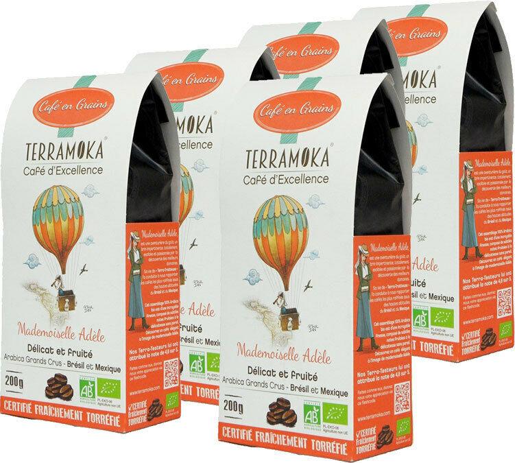 TerraMoka Café en grains 100% Arabica Bio Mademoiselle Adèle - 1kg - TerraMoka - Sélection Verte (Bio) - Café Bio - Bio