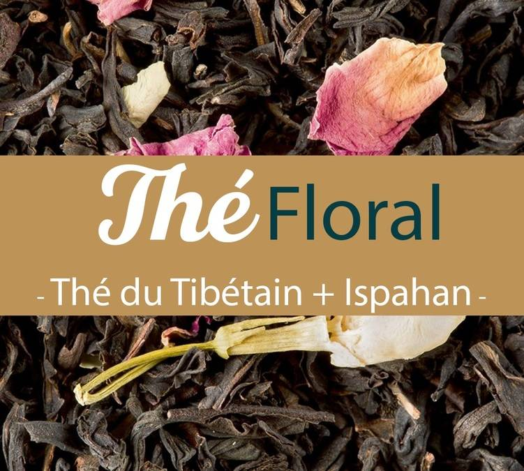 Comptoir Français du Thé - Thé noir et vert en vrac Thé du Tibétain et Ispahan 2x100g - Comptoir Français du thé