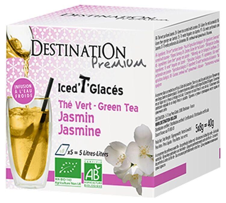Destination Thé vert glacé T'Soft jasmin x5 100% bio - Destination - Bio