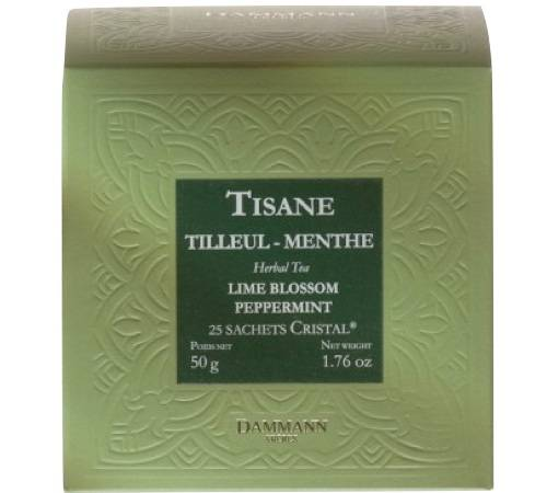 Dammann Frères Tisane Tilleul Menthe Herboristerie D'orgeval - 25 Sachets Cristals - Dammann Frères