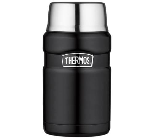 Thermos Lunch box isotherme inox Thermos King noir 71 cl - Thermos - 71.0000 cl