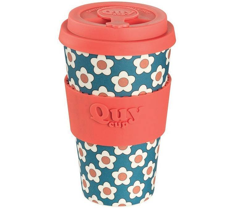 QUY CUP Gobelet 400 ml Daisy Bleu - QUY CUP - 40.0000 cl