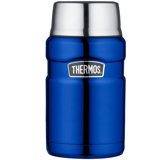 Thermos Lunch box isotherme inox Thermos King bleu électrique 71 cl - Thermos - 71.0000 cl