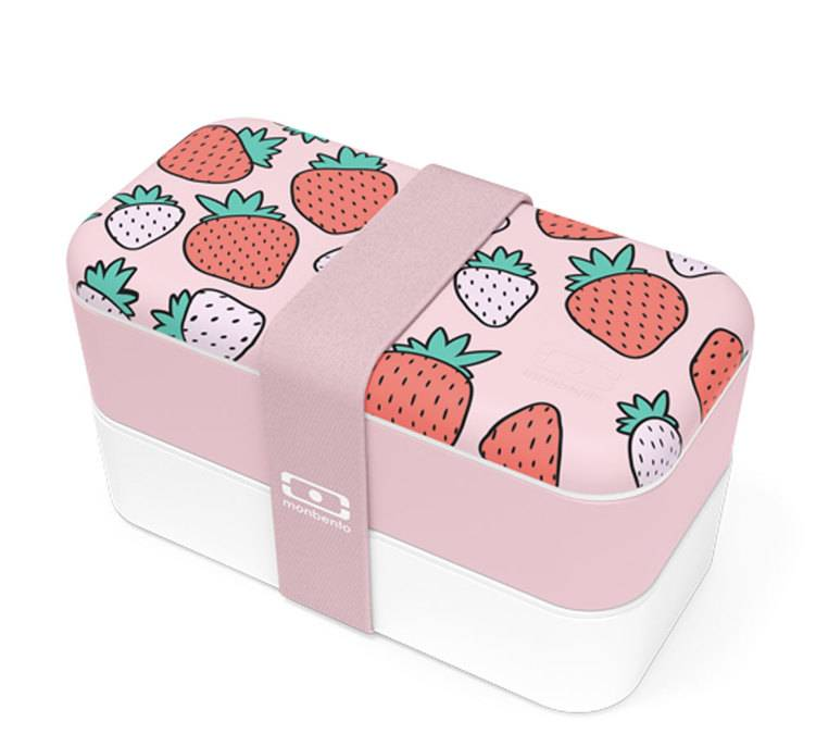 MonBento Lunch box MB Original Graphic Strawberry 1L Made in France - Monbento - 100.0000 cl