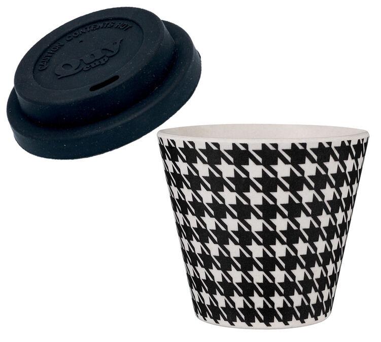 QUY CUP Gobelet expresso 40 ml Pied de poule - QUY CUP - 4.0000 cl