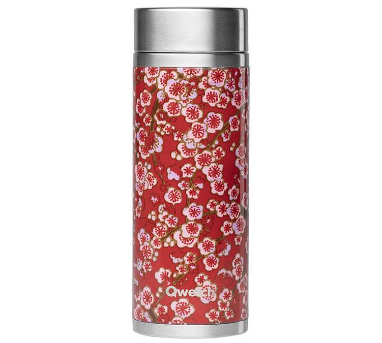 Qwetch Théière isotherme Flowers inox 300 ml + 2 infuseurs - Qwetch - 30.0000 cl