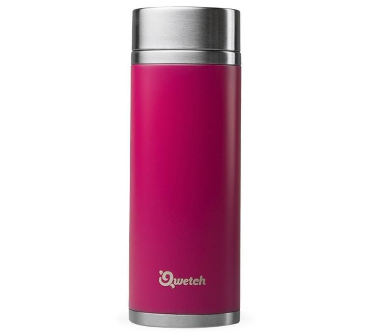 Qwetch Théière isotherme nomade inox magenta rose 300 ml + 2 infuseurs - Qwetch - 30.0000 cl