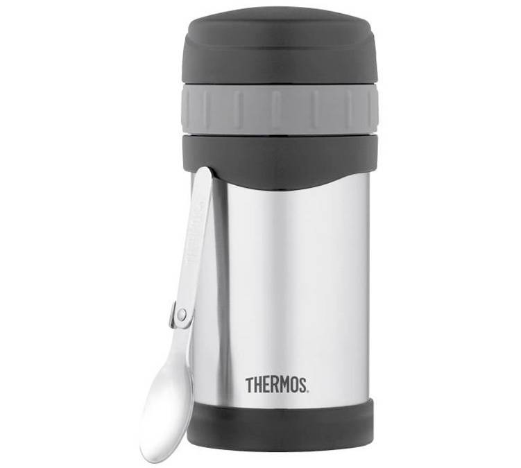 Thermos Lunch box isotherme inox TherMax 47 cl avec cuillère - Thermos - 47.0000 cl