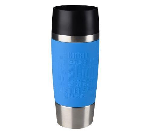 Emsa Travel Mug isotherme inox/silicone bleu 36 cl - EMSA - 36.0000 cl