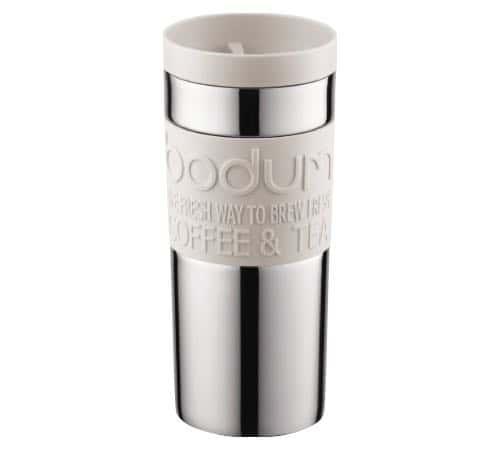 Bodum Travel Mug isotherme double paroi inox 35 cl Blanc crème - Couvercle à vis - Bodum - 35.0000 cl
