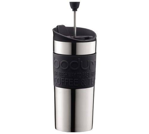 Bodum Mug isotherme inox Travel Press 35 cl noir - Bodum - 35.0000 cl