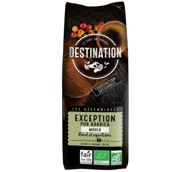 Destination Café moulu Les Arabicas d'Exception x 250 g - Sélection Verte (Bio) - Café de Grandes Marques - Bio