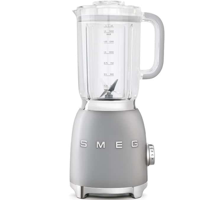 SMEG - Blender Smeg BLF01SVEU Années 50 Gris Metal - - Sans BPA